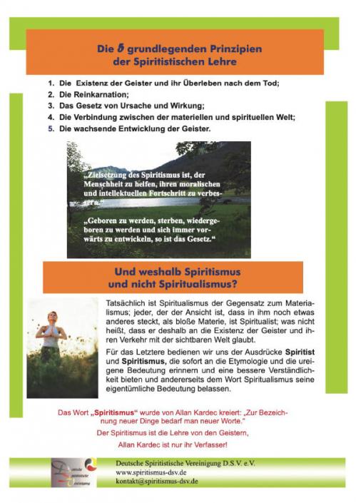 Die 5 grundlegenden Prinzipien der Spiritistischen Lehre